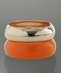 A.V. Max orange lucite and gold plated bangle set ($29.99 on sale)
