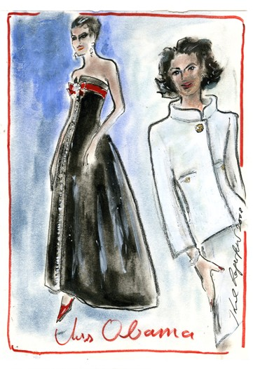 karl lagerfeld sketches. Karl Lagerfeld (for Chanel)