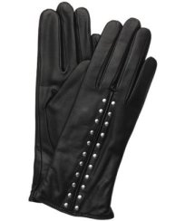 Michael Kors black leather studded gloves ($57 on sale)