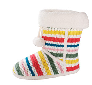 Old Navy Striped Slippers (about $25)