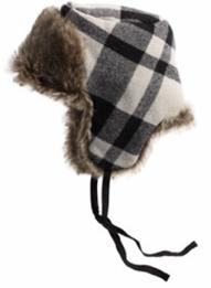 American Eagle Buffalo Plaid Trapper hat, $35