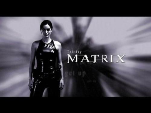 Trinity in the movie The Matrix. Liquid everything.