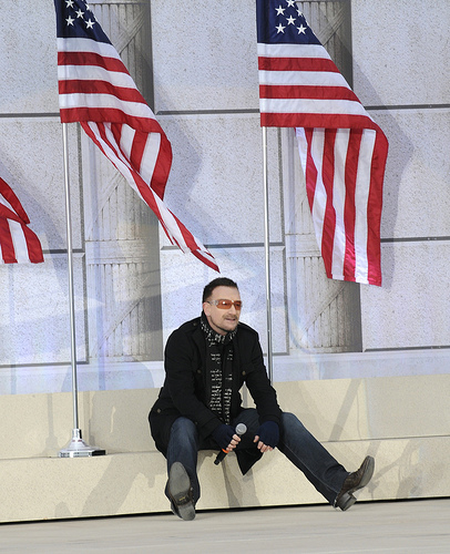 """U2's Bono at the """"We are One"""" in Washington"""