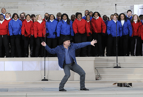 """Garth Brooks at the """"We are One"""" in Washington"""