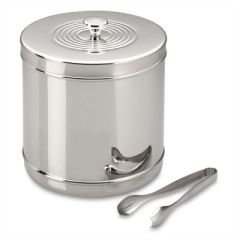 Stainless steel Ice Bucket with tongs at Williams-Sonoma $69.99 on sale