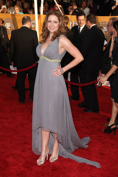 Jenna Fischer wears Pamella Roland