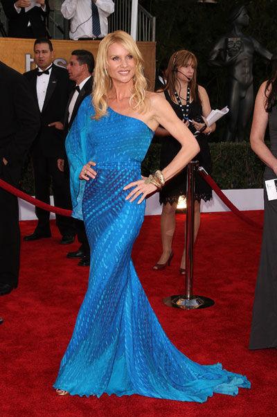 Nicolette Sheridan wears Cavalli