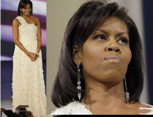 First Lady Michelle Obama sparkles