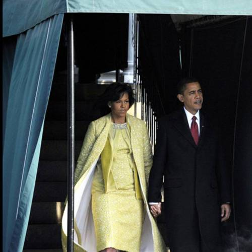 Barack and Michelle Obama on January 20, 2009 for the inauguration of Obama as President of the United States