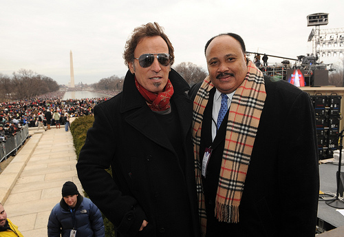 """Bruce Springsteen and Martin Luther King Jr. III at the """"We are One"""" in Washington"""