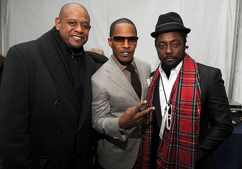 """Forrest Whittaker, Jamie Foxx and Will.i.am at the """"We are One"""" in Washington"""