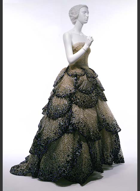 "This 1949 Christian Dior gown called ""Junon"" at the Metropolitan Museum of Art's Costume Institute"