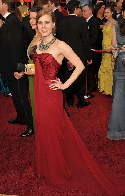 Amy Adams wears Carolina Herrera