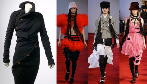 Comme des Garçons dress (left) for H&M 2008 and fall/winter 08 collection (right)