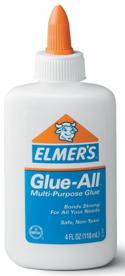 white liquid glue