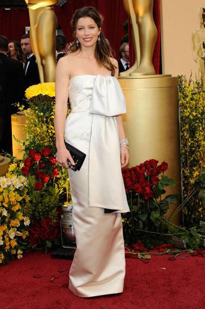 Jessica Biel wears Prada