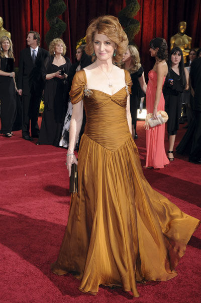 Melissa Leo in this bad, bad idea of a dress