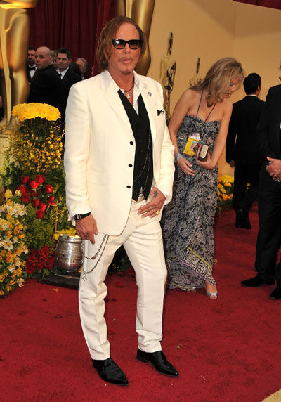Mikey Rourke wears Jean Paul Gaultier
