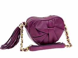 Modalu heart bag in leather $68 at Asos