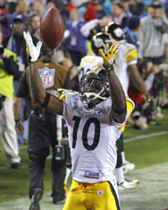 Pittsburgh Steelers' wide reciever Santonio Holmes