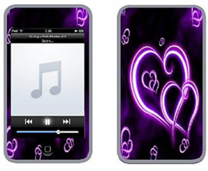 Heart detailed iPod skin on Ebay $5.99