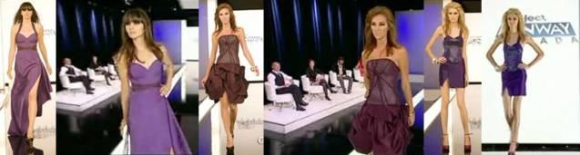 Team Versace's designs (from left): Sunny, Genevieve, Adejoké