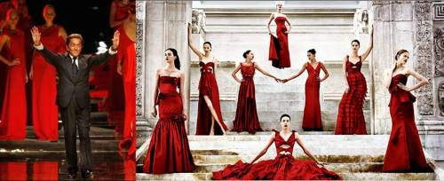 Valentino's last collection: 30 red dresses for the Haute Couture Spring 2008 collection