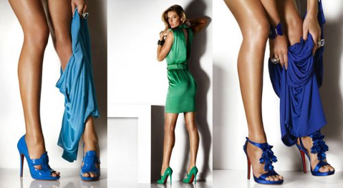Versace Sprint 08 collection advertisement featuring model Gisele