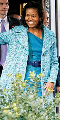 Michelle Obama wears J. Crew for her lunch date with Jill Biden and the Washington D.C.'s mayor and wife
