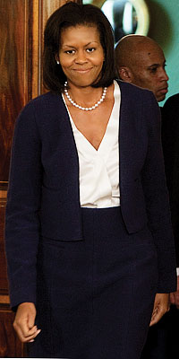 Michelle hosts her first reception at the White House