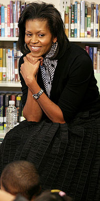 Michelle Obama makes learning fun: textures and stripes, oh my!