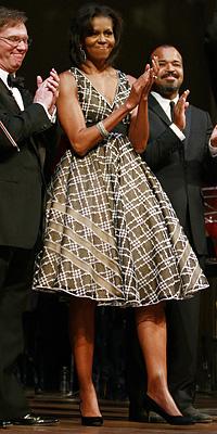 Michelle wears Isobel Toledo