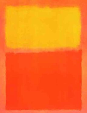 """Mark Rothko """"Orange and Yellow"""" 1956 poster $35"""