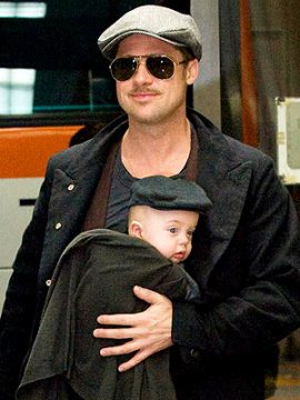 Two-for-one: Brad Pitt and his mini me