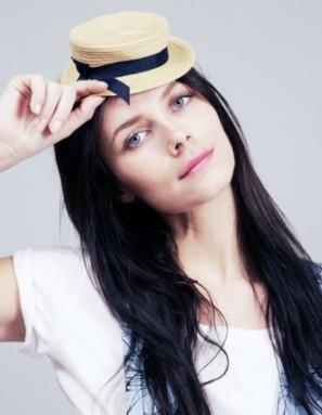 Mini boater hat: Chapeau Claudette, $48