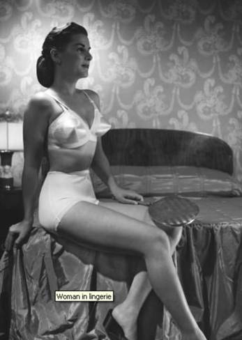 Woman in Lingerie, circa 1950