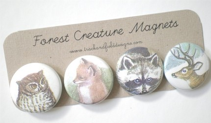 Track and Field forest creature magnets $9