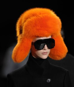 Orange fur at Michael Kors.