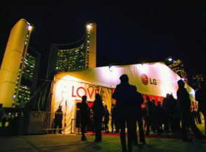 Fashion Week tent at Nathan Phillips Square in Toronto