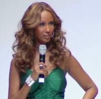 Iman wears a dress by PRC season 1 winner, Evan Biddell