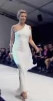 Cheryl Hickey wears Sunny's design