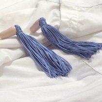 Blue Tassel Earplugs by Jen Gen, $6
