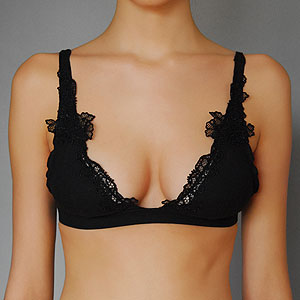 Embroidered soft bra, $46