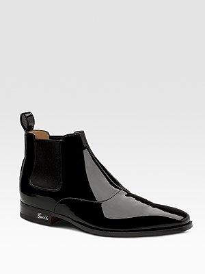 Gucci Patent Goatskin Boot, $765, Saks