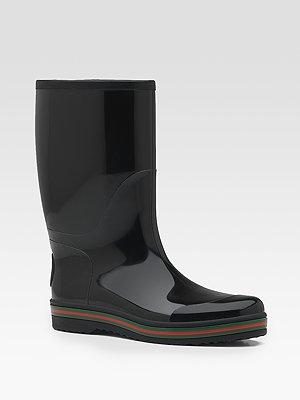 Gucci Rubber Rain Boot, $295, Saks