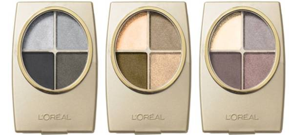 L'Oreal Paris Wear Infinité Eye Shadow Quads, about $15 at local drugstores