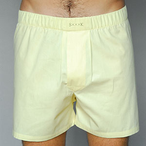 Men's boxer in Egyptian cotton with a silk-lined fly, $