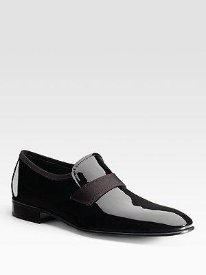 Salvatore Ferragamo Patent Slip-on Loafers, $520, Saks