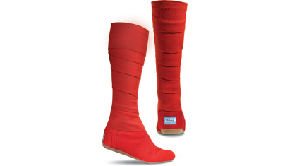 Vegan Red Wrap Boot, $98