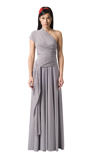 The Butter by Nadia Jersey Ball Gown wrap dress, $310